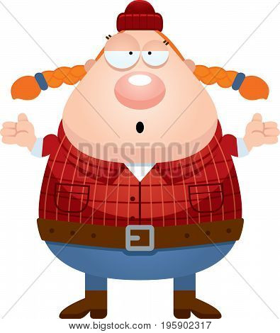 Confused Cartoon Lumberjack