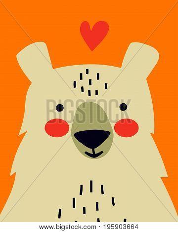 Romantic Bear Card