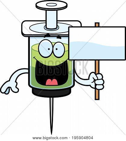 Cartoon Syringe Sign