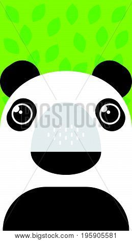 Vector illustration cartoon panda. Cute panda character.