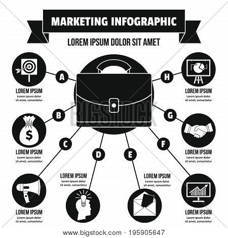 Marketing infographic banner concept. Simple illustration of marketing infographic vector poster concept for web