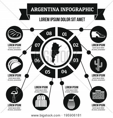 Argentina infographic banner concept. Simple illustration of Argentina infographic vector poster concept for web
