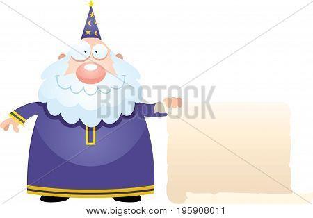 Cartoon Wizard Sign