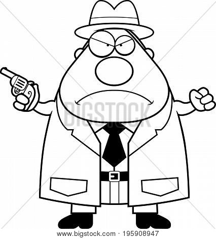 Angry Cartoon Detective