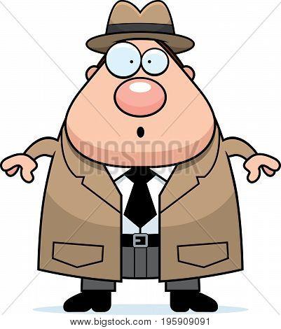 Surprised Cartoon Detective