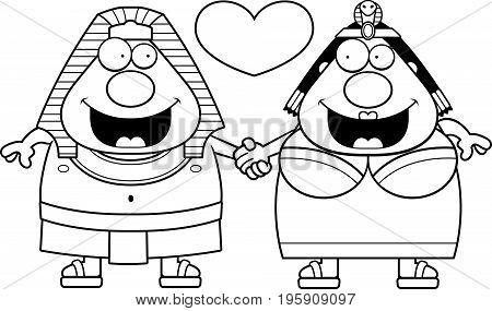 Cartoon Pharaoh And Queen Love