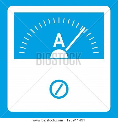 Counter icon white isolated on blue background vector illustration