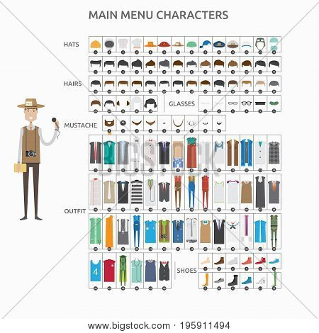 Character Creation Journalist   set of vector character illustration use for human, profession, business, marketing and much more.The set can be used for several purposes like: websites, print templates, presentation templates, and promotional materials.