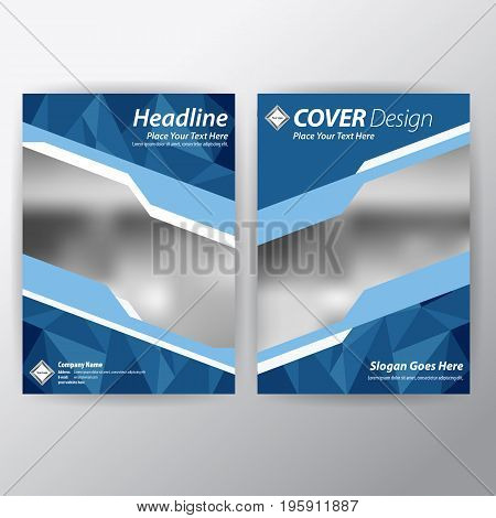 Business Brochure. Flyer Design. Leaflets in size A4 Template. Cover Book and Magazine. Annual Report Vector illustration.