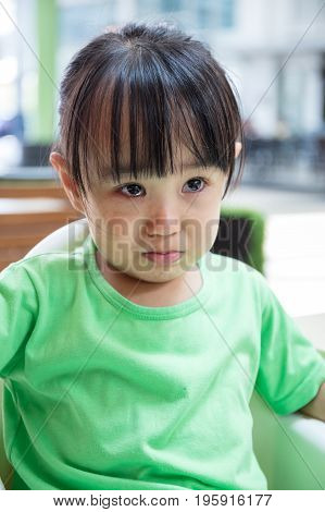 Asian Chinese Little Girl Crying