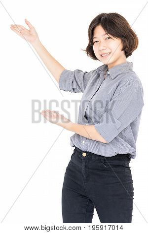 Close Up Female Short Hair With Shirt
