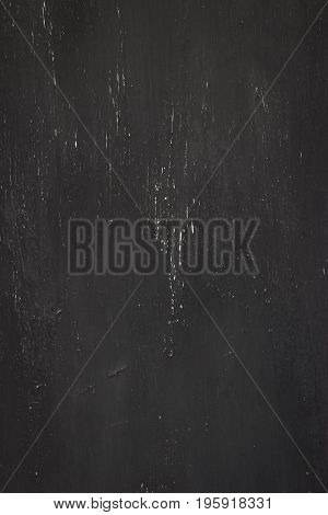 Grunge old shabby metal black crackle backdrop.