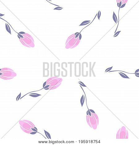 Seamless cherry blossom or sakura floral pattern