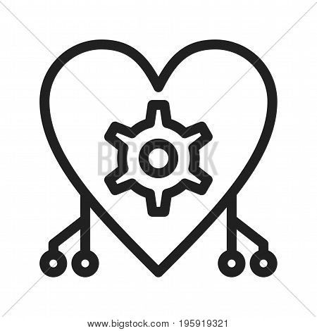 Artificial, intelligence, cybernetics icon vector image. Can also be used for Data Analytics. Suitable for web apps, mobile apps and print media.
