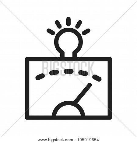 Computer, analysis, information icon vector image. Can also be used for Data Analytics. Suitable for use on web apps, mobile apps and print media.