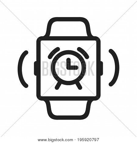 Alarm, clock, time icon vector image. Can also be used for Smart Watch. Suitable for use on web apps, mobile apps and print media.