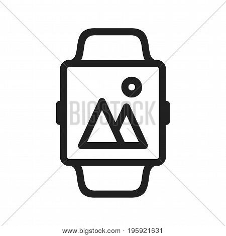 Gallery, app, smart icon vector image. Can also be used for Smart Watch. Suitable for mobile apps, web apps and print media.