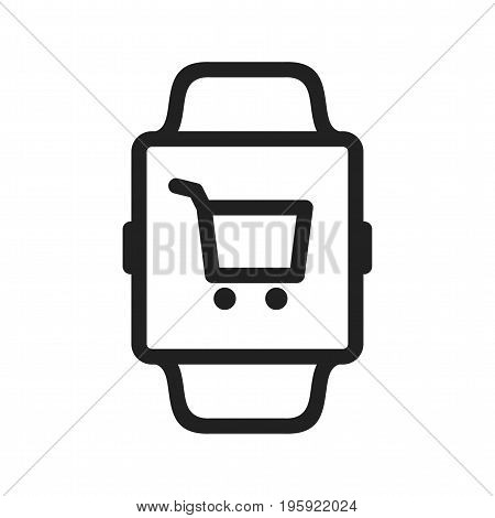 Shopping, online, payment icon vector image. Can also be used for Smart Watch. Suitable for use on web apps, mobile apps and print media.