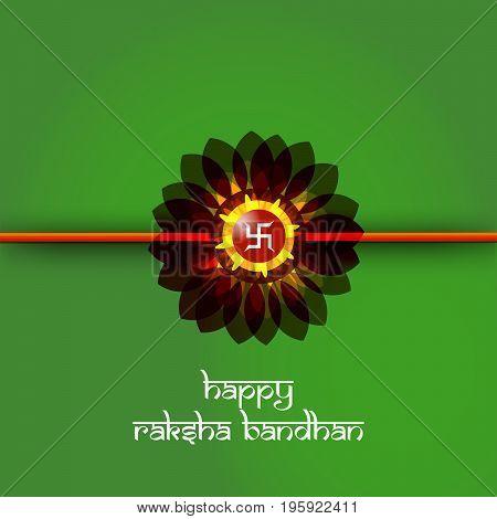 illustration of Rakhi with happy Raksha Bandhan text on the occasion of hindu festival Raksha Bandhan