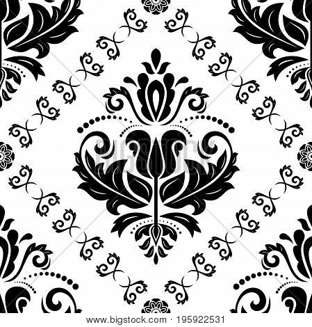 Oriental classic pattern. Seamless abstract background with repeating elements. Orient background