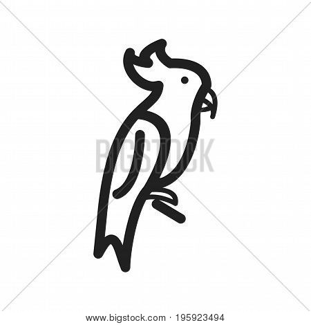 Pirate, parrot, cartoon icon vector image. Can also be used for Pirate. Suitable for use on web apps, mobile apps and print media