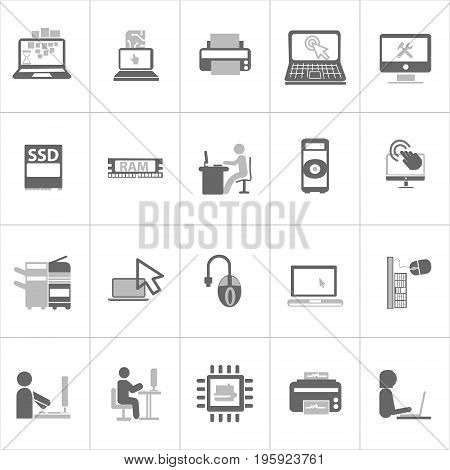 Vector Creative Illustration Computer Network and mobile devices. you can use for website icon, moblie UI or business icon.