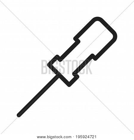 Awl, tool, metal icon vector image. Can also be used for Hand Tools. Suitable for web apps, mobile apps and print media.