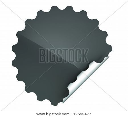 Black Round Hamous Sticker Or Label