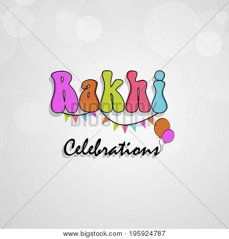 illustration of Rakhi Celebrations text on the occasion of hindu festival Raksha Bandhan