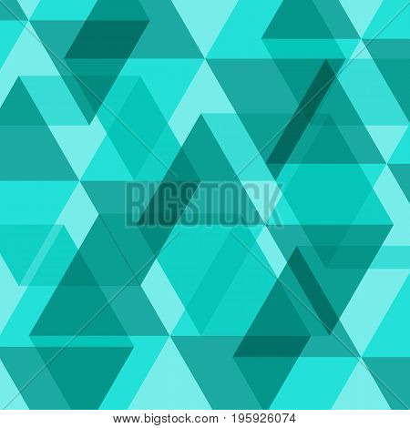 Abstract green geometric template background, stock vector