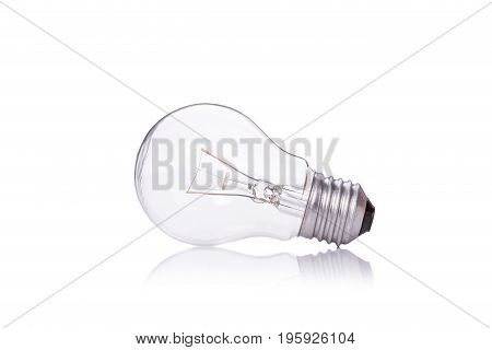 Clear Home Light Bulbs. Studio Shot Isolated On White Background