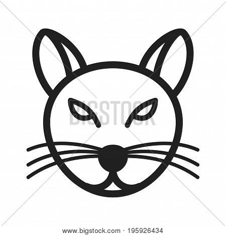 Cat, cute, face icon vector image. Can also be used for Animal Faces. Suitable for use on web apps, mobile apps and print media.