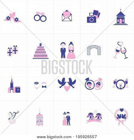 Vector Creative Illustration Wedding, bride and groom, love, celebration. you can use for website icon, mobile UI or business icon etc.