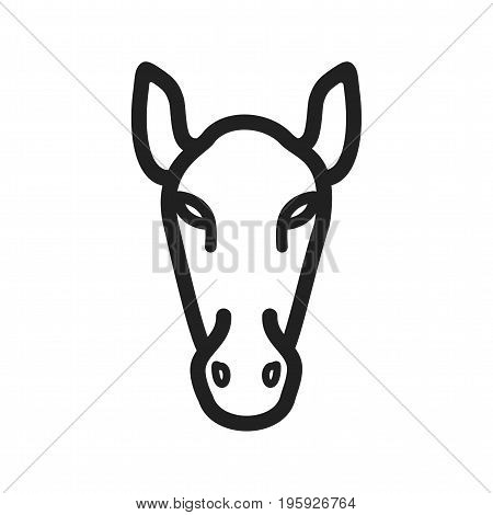 Horse, riding, racing icon vector image. Can also be used for Animal Faces. Suitable for mobile apps, web apps and print media.