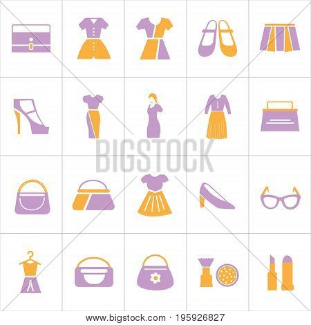 Vector Creative Illustration Set of women's fashion you can use for website icon, mobile uI or business icon.