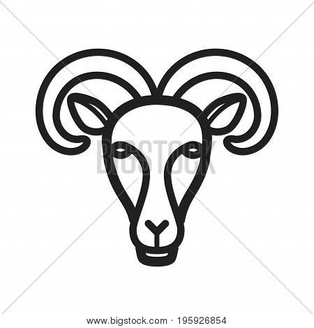 Goat, mountain, animal icon vector image. Can also be used for Animal Faces. Suitable for mobile apps, web apps and print media.