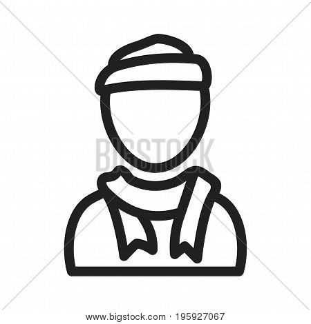 Scarf, head, warm icon vector image. Can also be used for Avatars. Suitable for use on web apps, mobile apps and print media.