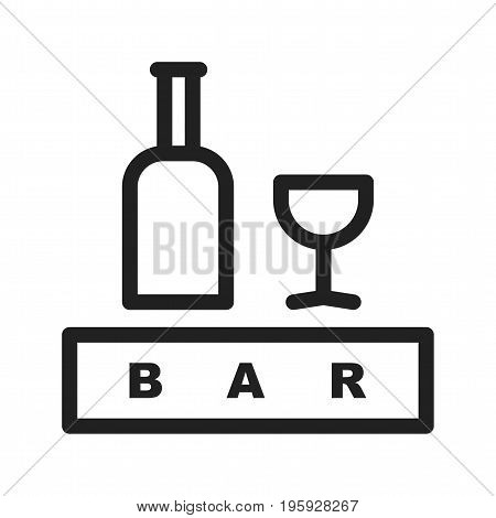 Bar, sign, cafe icon vector image. Can also be used for Cafe and Bar. Suitable for use on web apps, mobile apps and print media