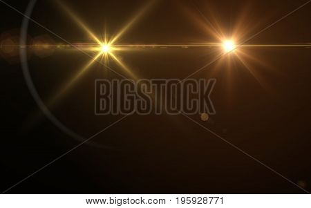 Abstract Design natural lens flare in space. Rays background.Abstract image of sun burst lighting flare