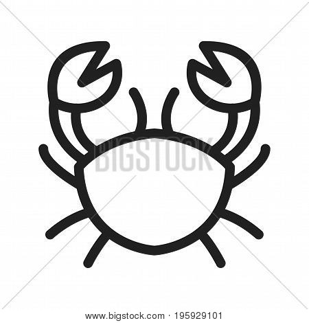 Cancer, sign, zodiac icon vector image. Can also be used for Zodiac. Suitable for use on web apps, mobile apps and print media.