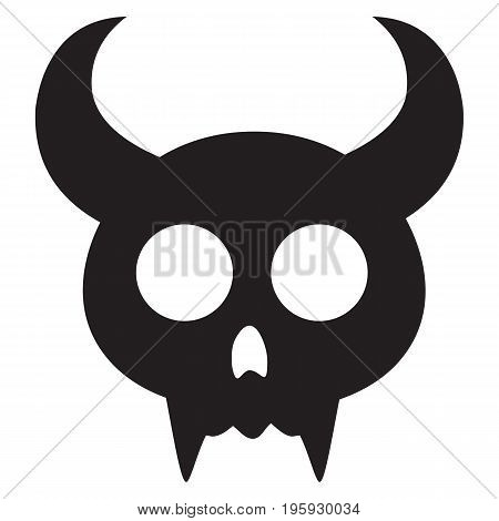 Halloween spooky black pumpkin shock sign silhouette smiling spooky square