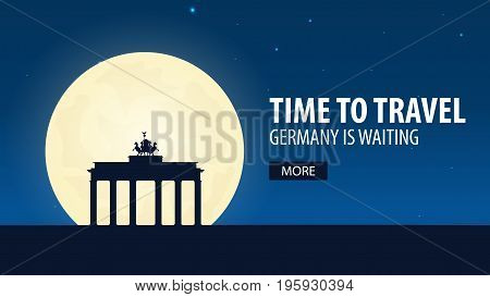 Time To Travel. Travel To Germany. Germany Is Waiting. Vector Illustration.