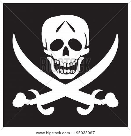 Pirate black background flag skull and crossbones pirate flag
