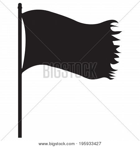 Pirate black flag skull and crossbones pirate flag