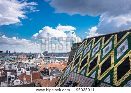 St. Stephens Cathedral Vienna With Cityscape landmark and place of interest in Austrias Capital City