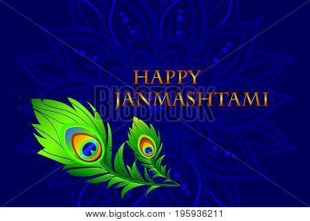 Happy Janmashtami. Dahi handi on Janmashtami, celebrating birth of Krishna