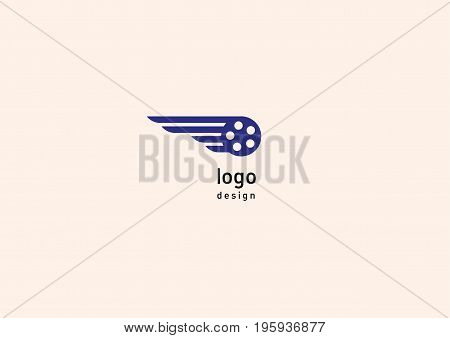 Development Creative Geometric Bright Logo Flying Video
