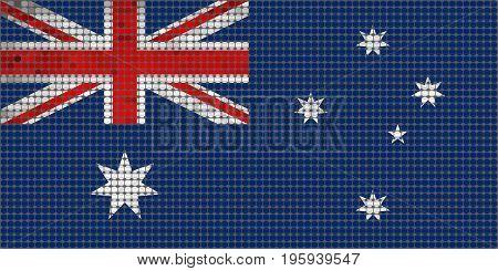 Grunge mosaic flag of Australia - Illustration,  Abstract grunge mosaic vector
