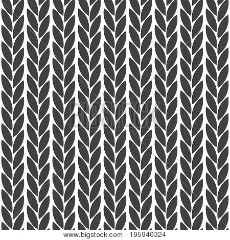 Knitted geometric pattern. Seamless abstract minimalistic background