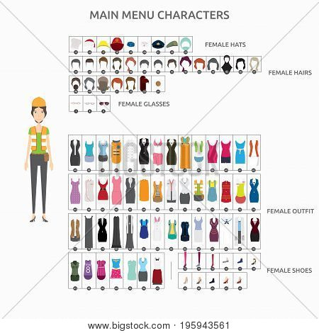 Character Creation Engineer   set of vector character illustration use for human, profession, business, marketing and much more.The set can be used for several purposes like: websites, print templates, presentation templates, and promotional materials.